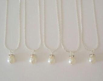 6 Bridesmaid Gift Necklaces Simple & Elegant, Bridesmaid Jewelry