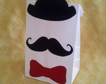 Moustache Treat Sacks - Little Man Carnival Circus 1920s Theme Birthday Party Favor Goody Bags by jettabees on Etsy