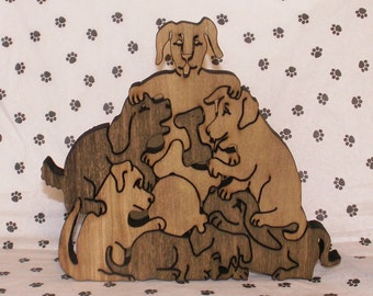 Pile of Puppies Handmade Jigsaw Puzzle