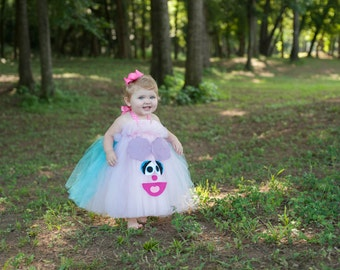 Abby Cadabby Inspired Costume Tutu Dress for dress up playtime or parades or pageants