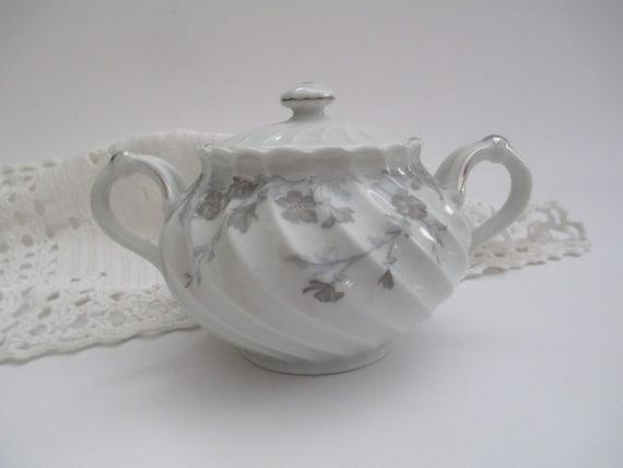Vintage Haviland Limoges Valmont Floral Covered Sugar Bowl