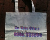 The Golden Rule Tote // Do Unto Others Cool Things // Neon & Natural