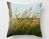 Wheat Decorative Pillow Cover Wheat Field Cushion Cover Pillow Case Gifts for Him Man Cave Decor Gift for Farmer Photo Pillow Cover 66x66