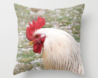 Farmhouse Decor Pillow Rooster Handmade Cushion Covers Rustic Home Decor Kitchen Decor Toss Pillow Cover Cotton Handmade Pillow Case 20x20