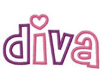 Diva Digital Embroidery Machine Applique Design 10793