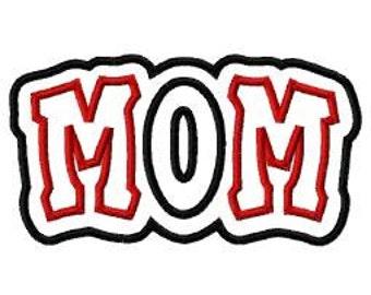 Mom 2 Color Digital Double Embroidery Machine Applique Design 10796