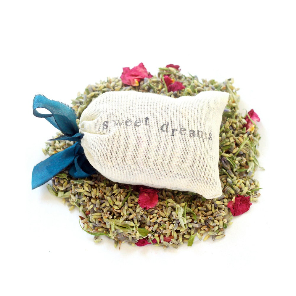 Sweet Dreams Fragrant Dream Pillow with Wild Roses Mugwort