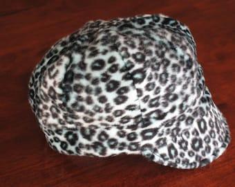 Baby Newsboy Leopard Print Fleece  Baby Hat Cheetah Print Cap Baby Girl Cap Baby Girl Hat Leopard Hat Animal Print