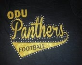 Football Glitter and Bling Shirt--done in your team colors