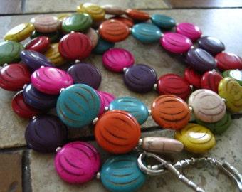 726 Colorful handmade beaded lanyard/id badge