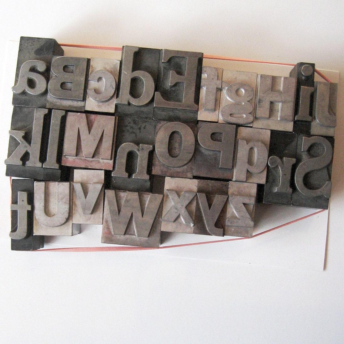 extra large mix font metal letterpress type letters alphabet. Black Bedroom Furniture Sets. Home Design Ideas