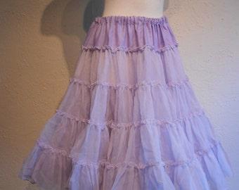 A Girl Goes Swish - 1950s Lavender Two Layer Crinoline Petticoat - 6/8