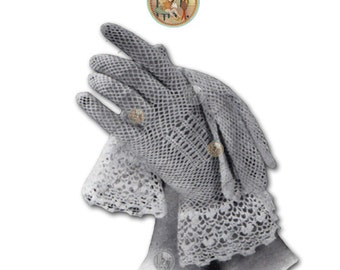 Vintage Irish Wedding Gloves to Crochet for Women Circa 1935 - PDF Pattern Instant Download - PrettyPatternsPlease