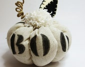 Halloween Decor - Fabric Pumpkin - Dinner Setting - Table Top Accessories - ecarlateboutique