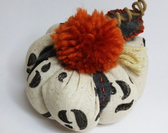 Halloween Thanksgiving Decor - Fabric Pumpkin - Dinner Setting - Table Top Accessories