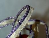 Metallic vintage trim braid gold purple white