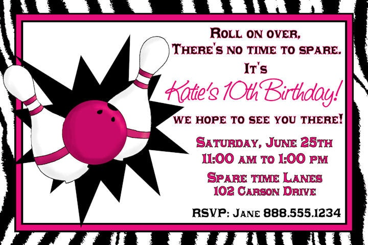 Bowling Party Invitations Free Online – Printable Bowling Party Invitations