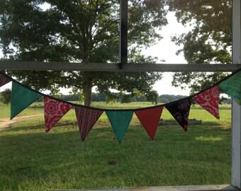 CUSTOM  9FT Fabric Bunting Banner, Flag Banner, Photo Prop, Nursery Decor, Party Decoration, Birthday