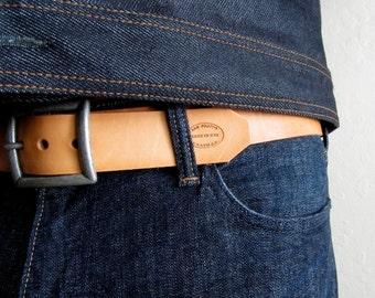 Mens Leather Belt, Natural Leather Belt, Boyfriend Gift, Custom Leather Belt, Wide Belt, Removable Buckle