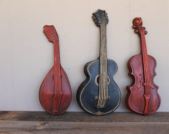 Vintage Cast Iron Instrument Set, Set of 3, 1960's