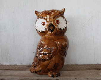 Extra Large Vintage Owl Figurine
