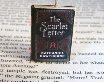 Miniature Classic Novels Book Necklace Charm The Scarlet Letter