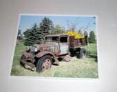 Old Farm Truck Photograph - Farm Truck with Pumpkins - 8 x 10 Photo - Fall Harvest - Rusty Old Truck - Farm Scene - Fall Decor