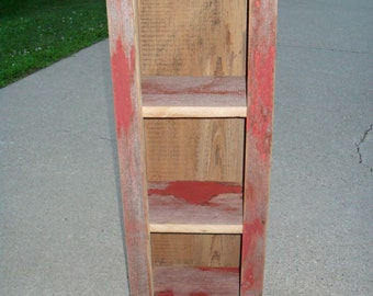 Small Red Barnwood Cabinet