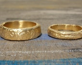Wedding Set - Gold Wedding Set - 18k Gold Wedding Bands - Wedding Band Set - His and Hers Bands - Gold Wedding Ring Couple's Set