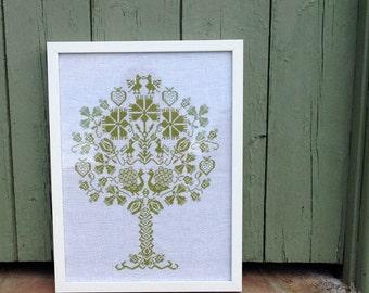 The Peacock Tree PDF Cross Stitch Pattern