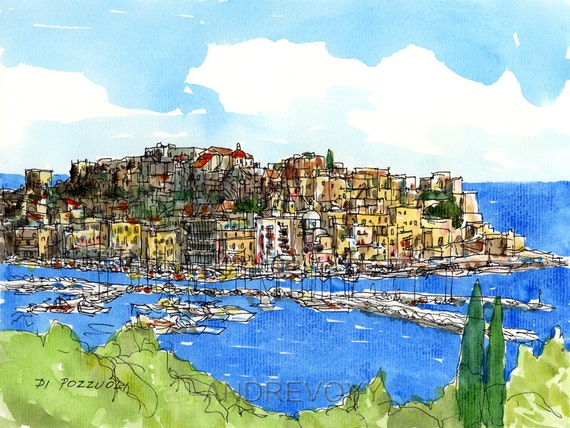 Pozzuoli Italy  city photos gallery : Pozzuoli Italy art print from an original by AndreVoyy on Etsy