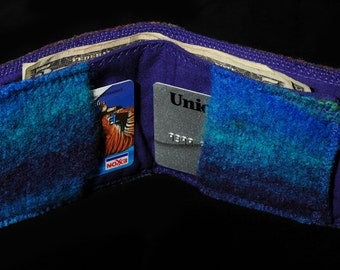 Felted  Wallet,  Gift for Dad, Green Friendly Wallet