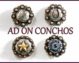 Concho Ad On - For your custom design jewelry organizer display stand - western cowboy cowgirl bling horse shoe praying cowboy gem swarvski