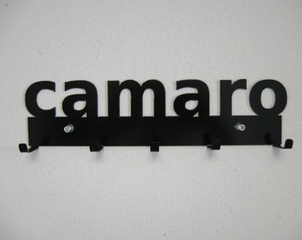 Camaro Key Rack Metal Wall Hanging