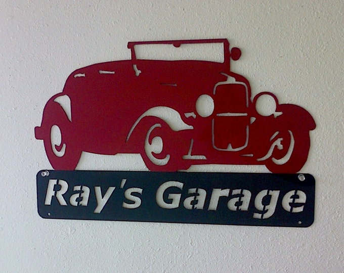 Personalized Metal Sign  - Man Cave- Classic -1932 Ford- Hot Rod -Garage Sign- Custom Colors