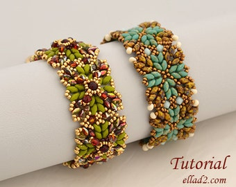 Tutorial Inka Bracelets - Beading pattern, PDF