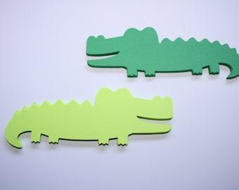 24 x Alligator Die Cuts