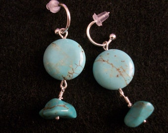 Magnesite and Turquiose Earrings