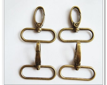 8pcs 1.5 inch (inside)  snap hook antique bronze