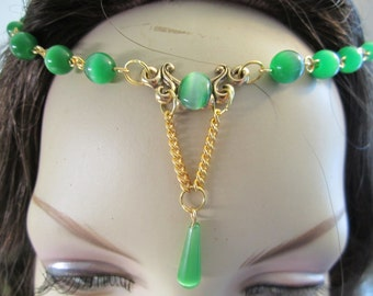 Emerald Circlet of the Woodland Fairy Elven Celtic Druid LARP Bridal Renaissance Cosplay