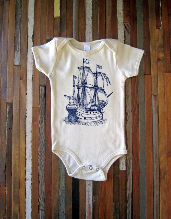 Organic Cotton Onesie Screen Printed American Apparel Baby