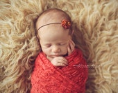 Stretch Lace Wrap Coral Newborn Photography Prop Baby Swaddle Infant