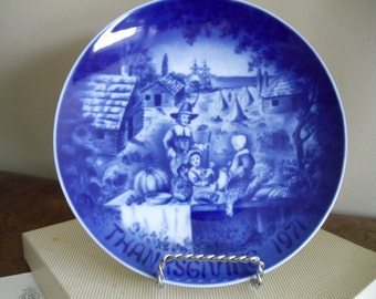BAREUTHER First Limited Edition 1971 Thanksgiving Plate - 360