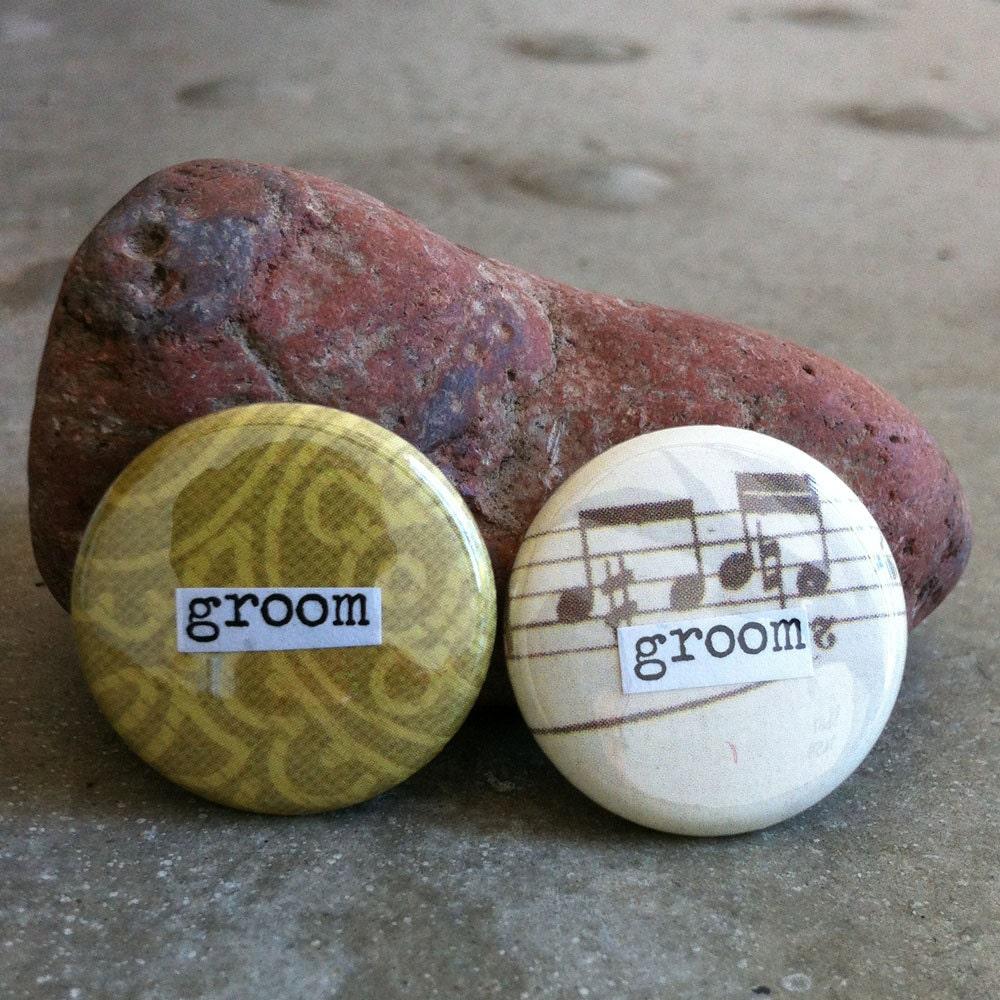 groom groom set pinback button magnet zipper pull. Black Bedroom Furniture Sets. Home Design Ideas