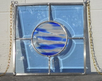 Blue Bevel Blues Stained Glass