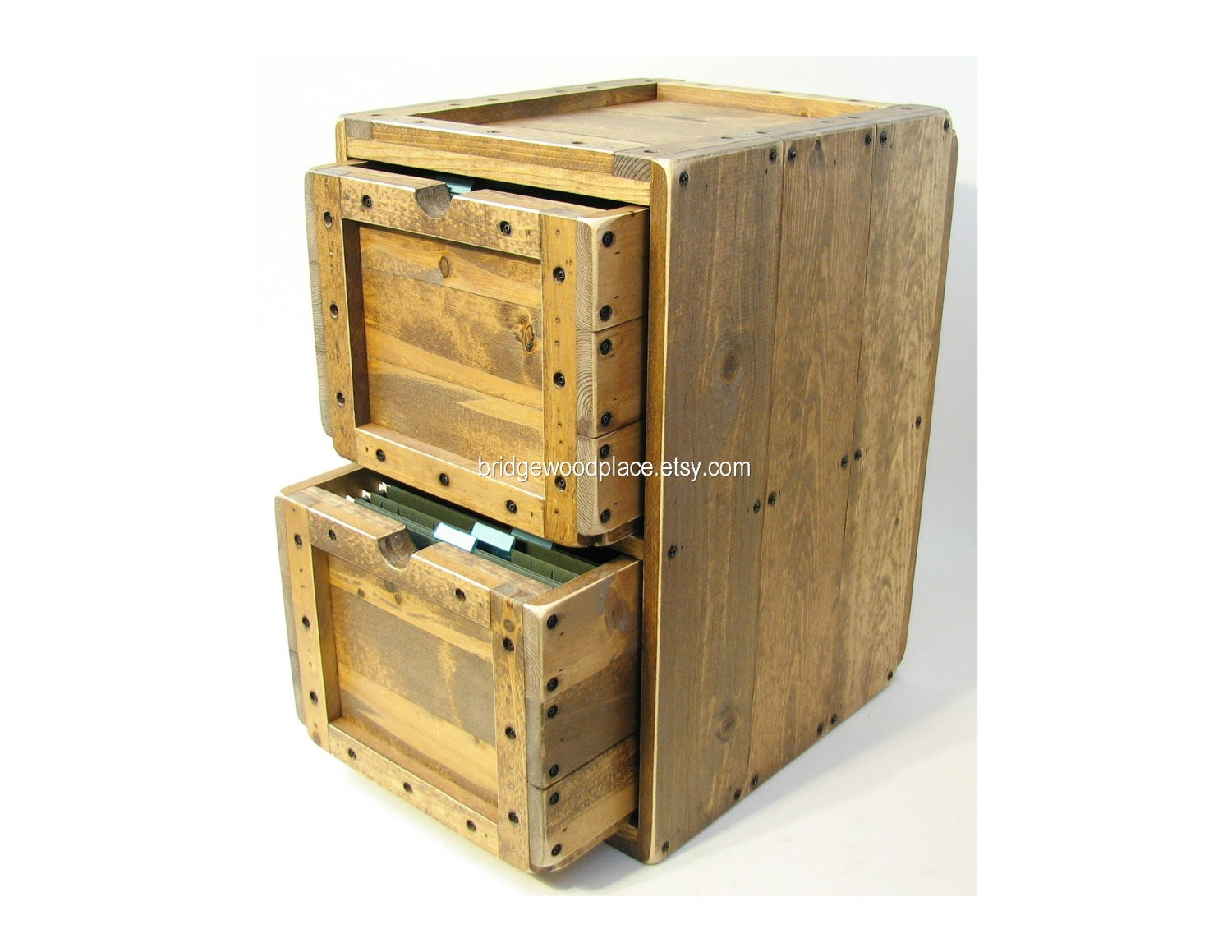 Filing Cabinet Rustic Solid Wood fice File by