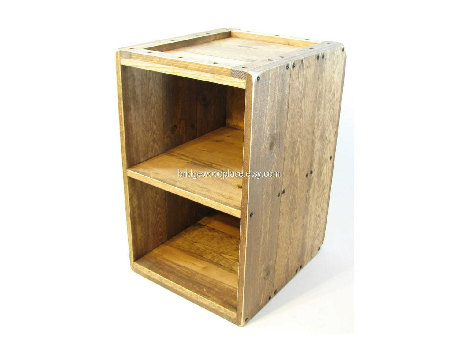 Wood crate table furniture side table rustic by bridgewoodplace Wooden crates furniture