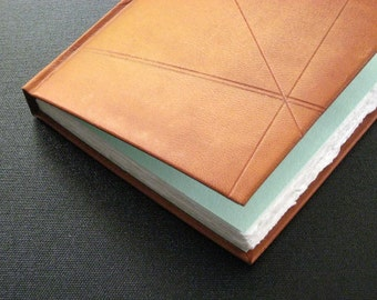 Leather Journal Notebook - Tan Kidskin