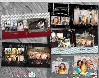 Chalky Christmas CD Case Collection - custom photo templates for photographers on WHCC specs