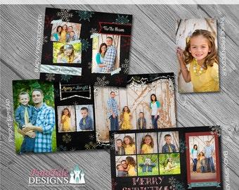 Chalky Christmas 4x8 Accordion Album- custom photo templates for photographers on MPixPro Specs